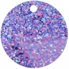 Sequins Hologram 40mm 4mm Hole Round Lilac